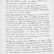 handschriftlicher Lebenslauf, 1949