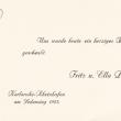 Geburtsanzeige, 1923