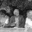 """Christa Dericum, Philip Wamboldt und Raja (""""Raissa"""") Kopelew, 1985"""