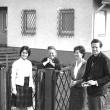 mit Heddy Pross-Werth, Tochter Warja und der Mutter, 1958
